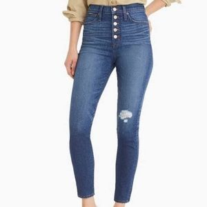 J.Crew 10in High Rise toothpick Jean size 31